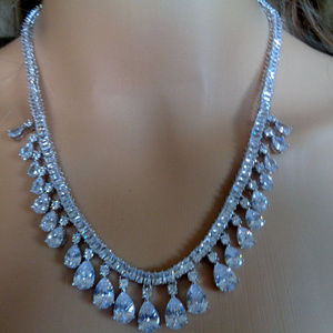 European and American brilli Zircon Bride Necklace